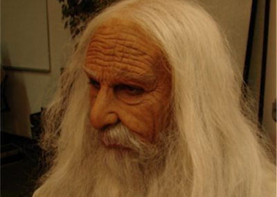 Extreme Old-age Makeup on a Male