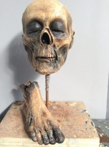Blood Drive Mummified Head and Foot