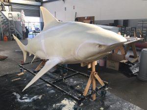 Big 4.5 Meter Bull Shark Foam Sculpture
