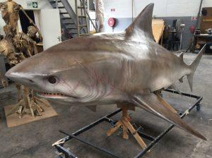 Big 4.5 Meter Animatronic Bull Shark