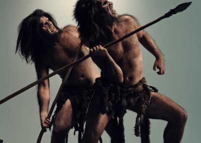 Cavemen with Spears