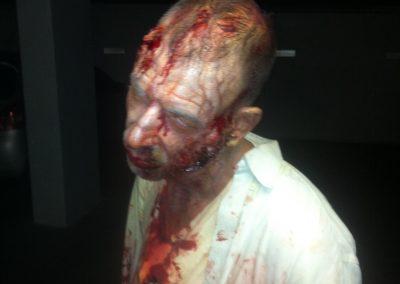 Zombie in parking lot